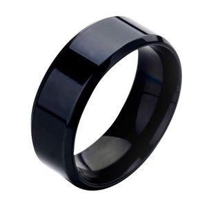 Fashion Unisex Lovers Stainless Steel Mirror Ring